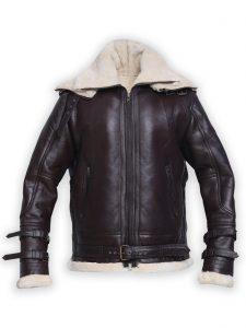Men B3 Brown Shearling Leather Jacket