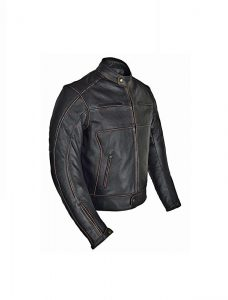 Motorcycle Brown Leather Jacket For Men