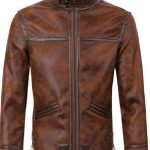 Motorcycle Casual Inner Faux Fur Jackets For Men