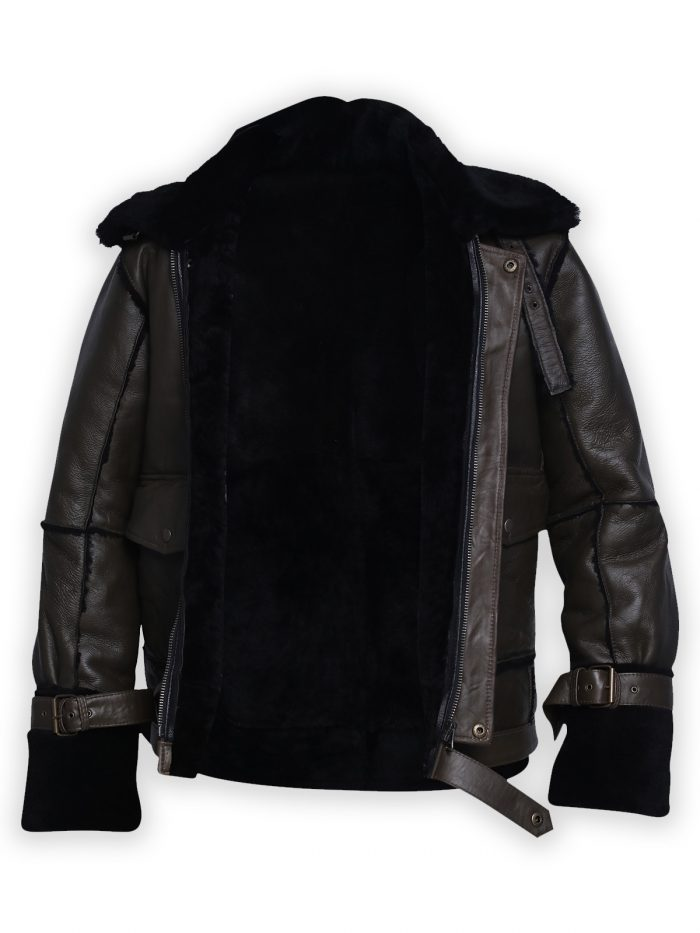 Men B3 Dark Bomber Shearling Jacket