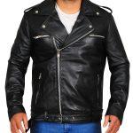 Black Negan Walking Dead Leather Jacket For Men