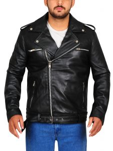 Black Negan Walking Dead Leather Jacket For Men