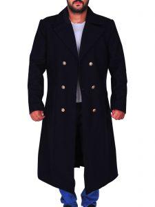 Navy Blue Long Coat Neil Patrick A Series of Unfortunate Events Harris