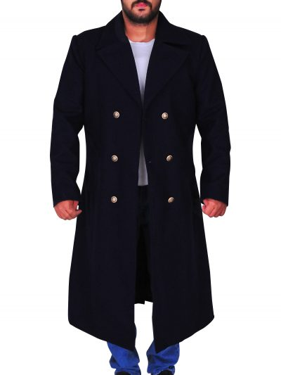 Navy Blue Long Coat Neil Patrick A Series of Unfortunate Events Harris