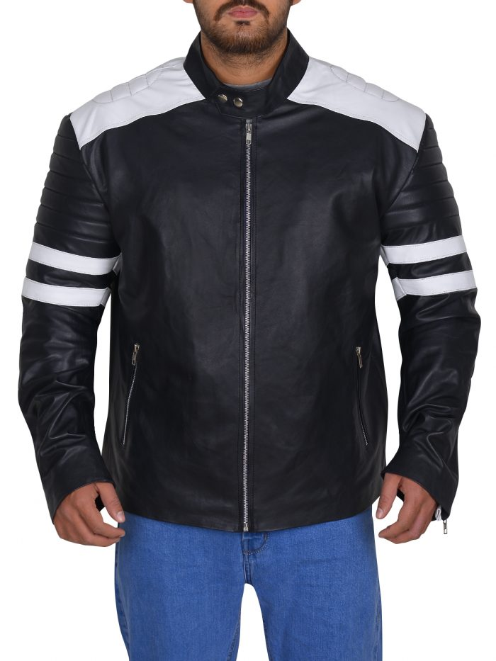 Black Biker Nerve Dave Franco Ian Jacket For Men