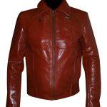 Netflix Marvels Daredevil Maroon Faux Leather Jacket