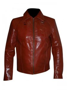 Netflix Marvels Daredevil Maroon Faux Leather Jacket