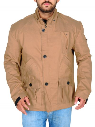 Tan Cotton Jacket Oliver Queen Arrow Stephen Amell