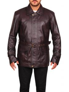 Brown Pierce Brosnan Tomorrow Never Dies James Bond Real Leather Coat
