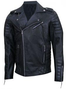 Black Prestige Homme MR18 Kay Michael Leather Jacket For Men