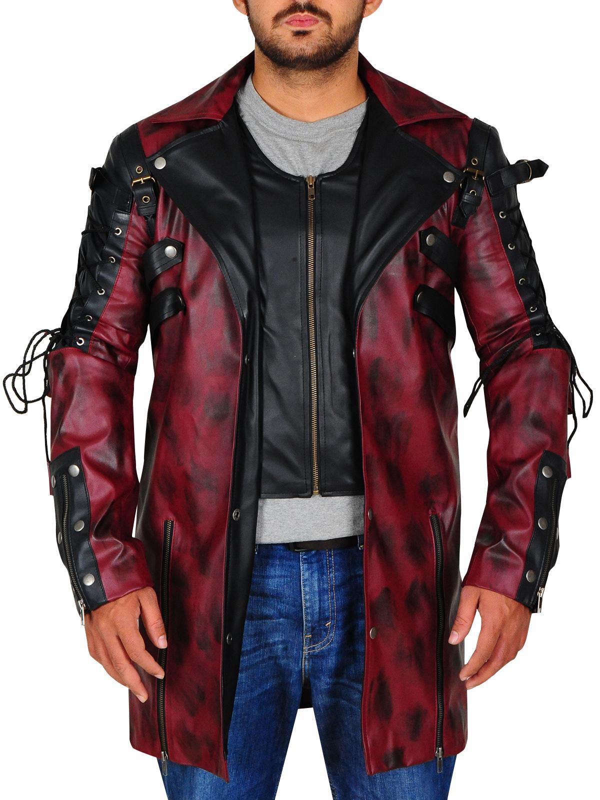 Punk Rave Poison Goth Steampunk Faux Leather Long Coat