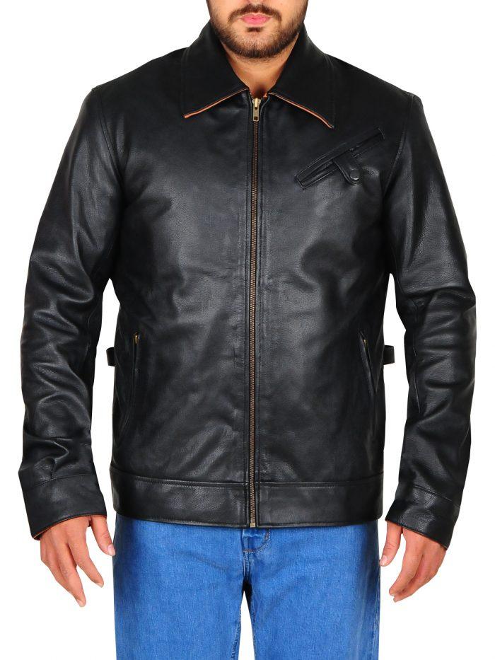 Quantum Break Shawn Ashmore Black Leather Jacket