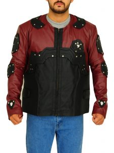 Ray Palmer Legends Of Tomorrow Brandon Routh Maroon - Black Leather Jacket