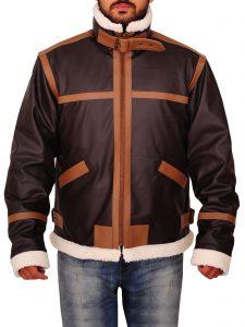 Resident Evil 4 Leon Kennedy Black Leather Jacket For Men