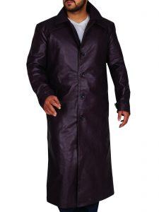 Resident Evil 5 Purple Long Trench Coat For Men