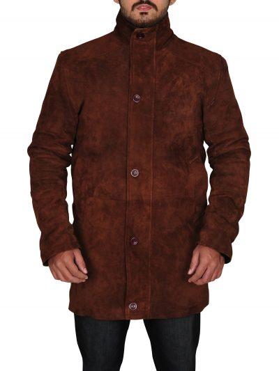 Brown Robert Sheriff Walt Longmire Coat For Men