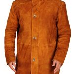 Robert Sheriff Walt Longmire Robert Taylor Camel & Dark Brown Leather Coat