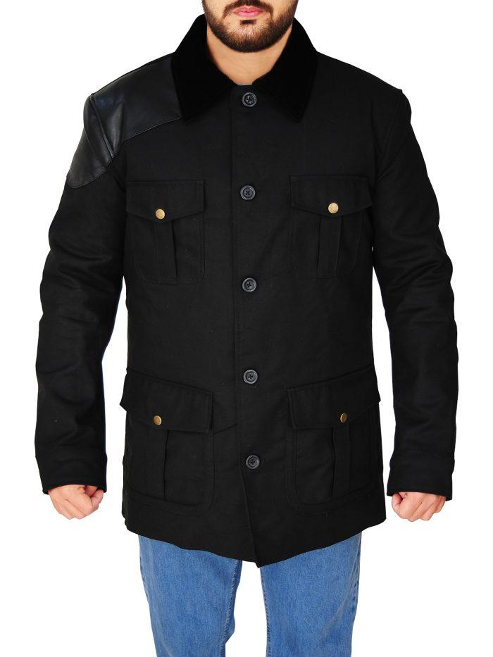 Black Cotton Jacket Sherlock Martin Freeman