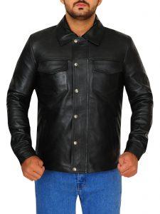 Singer Adam Lambert Black Leather Jacket For Men