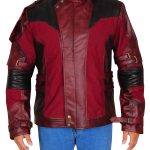 Maroon Star Lord Chris Pratt Leather Jacket For Men