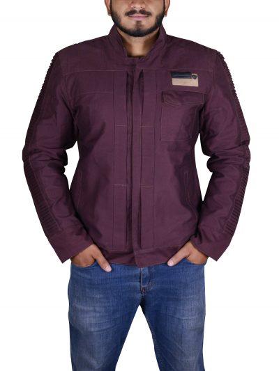 Star Wars Diego Luna Cassian Andor Purple Cotton Jacket