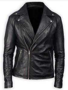 Men's Black Leather Stylish Biker Jacket