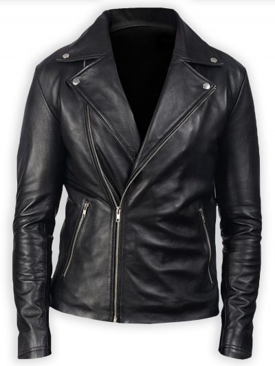 Men's Black Leather Stylish Biker Jacket