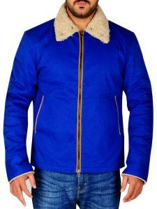 The Drop Bob Tom Hardy Blue Cotton Jacket For Men