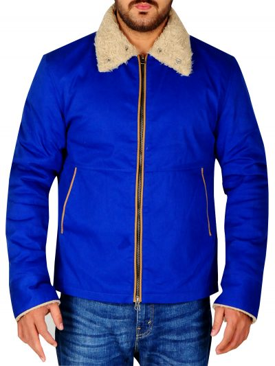 The Drop Bob Tom Hardy Blue Cotton Jacket For Men