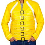 The Freddie Mercury Tribute Concert Yellow Faux Leather Jacket