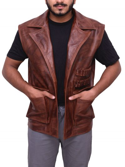 The League of Gentlemen Sean Connery Waxed Leather Vest