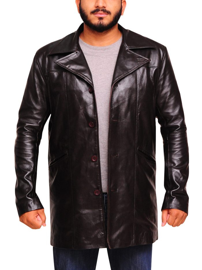 The Wire McNulty Dominic Dark Brown West Leather Coat
