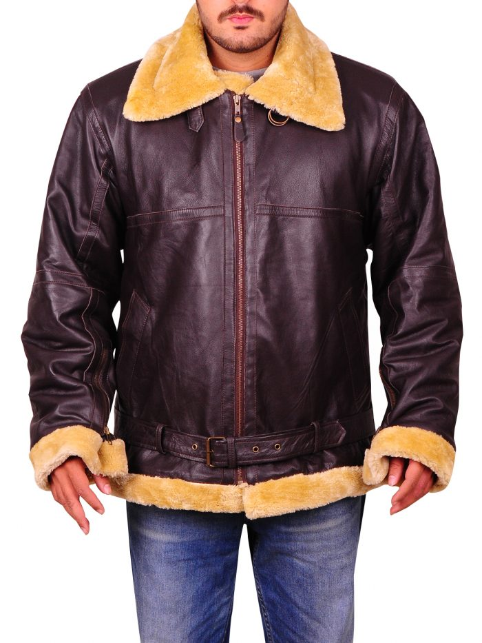 Tom Hardy Dunkirk Farrier Brown Bomber Jacket