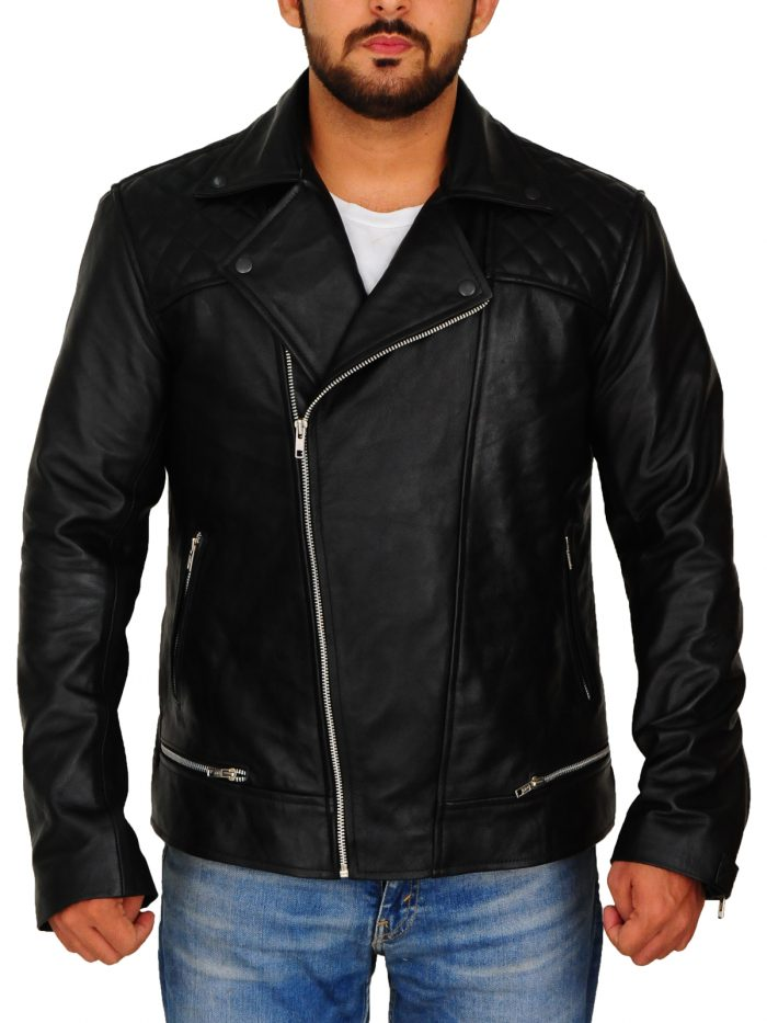 Tony Padilla 13 Reasons Why Leather Black Jacket For Men