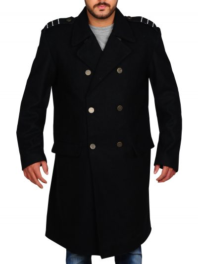 Torchwood Captain Jack Harkness John Barrowman Wool Fabric Coat