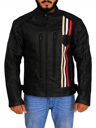 Men's Triumph Rider Black Leather Jacket