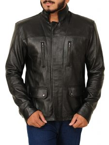 Men's Black Vintage Style Leather Jacket