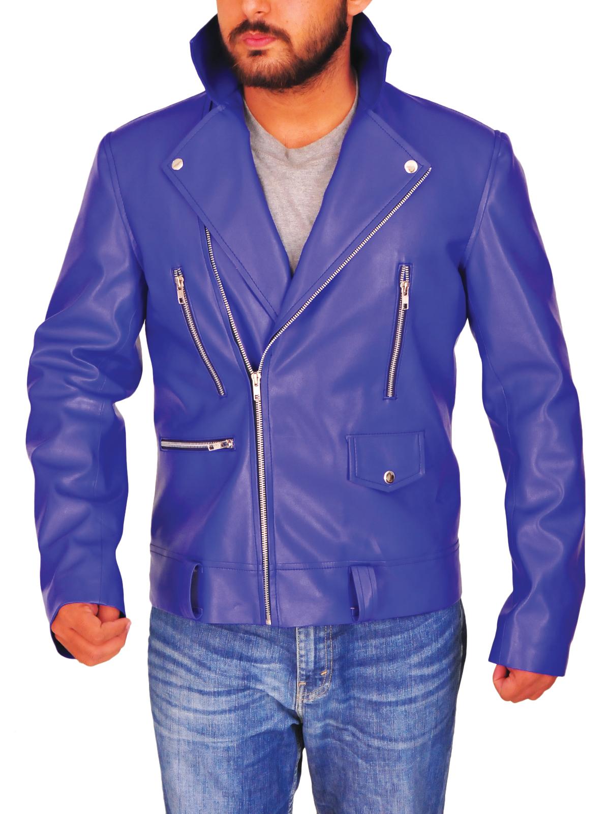 WWE Finn Balor Faux Blue Leather Jacket
