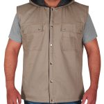 WWE Superstar Dave Bautista Light Brown Cotton Hooded Vest