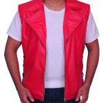 WWE Wrestler Shinsuke Nakamura Red Faux Leather Vest