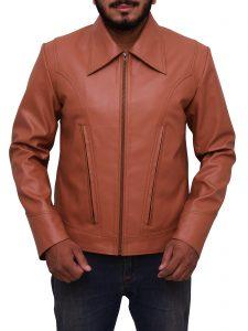 X Men Wolverine Tan Brown Faux Leather Jacket
