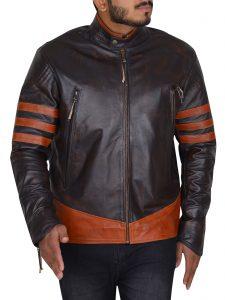 X-Men Origins Wolverine Dark Brown Leather Jacket