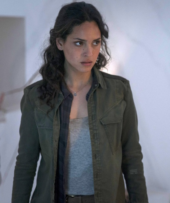 Adria Arjona Emerald City Cotton Green Jacket For Women
