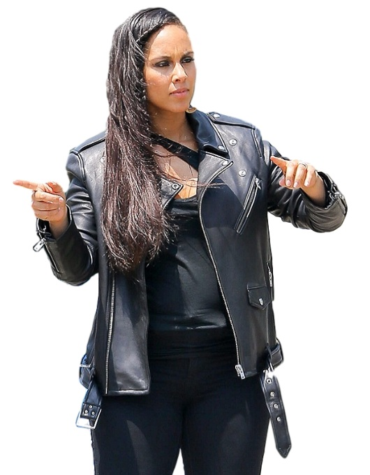 Alicia Keys Genuine Black Leather Jacket