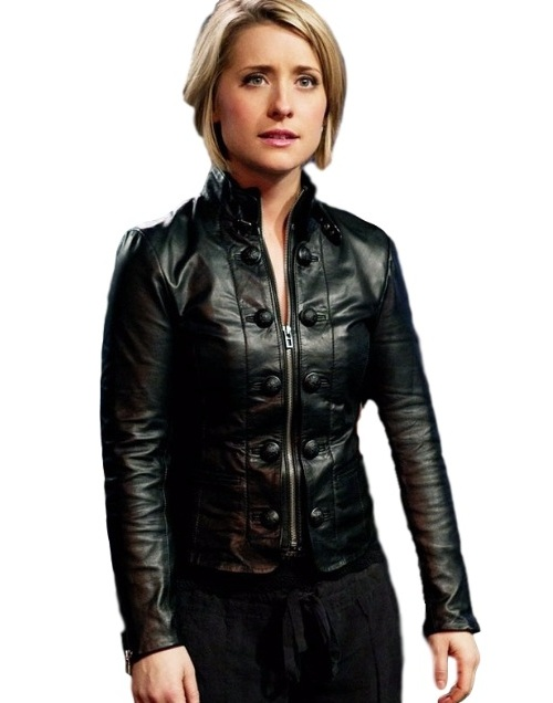 Allison Mack Smallville Black Faux Leather Jacket