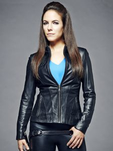 Anna Silk Lost Girl Black Faux Leather Jacket For Women