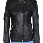 Stylish Amanda Tapping Sanctuary Black Leather Jacket