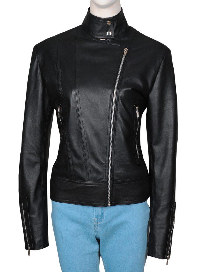 Anna Torv Fringe Olivia Dunham Black Leather Jacket