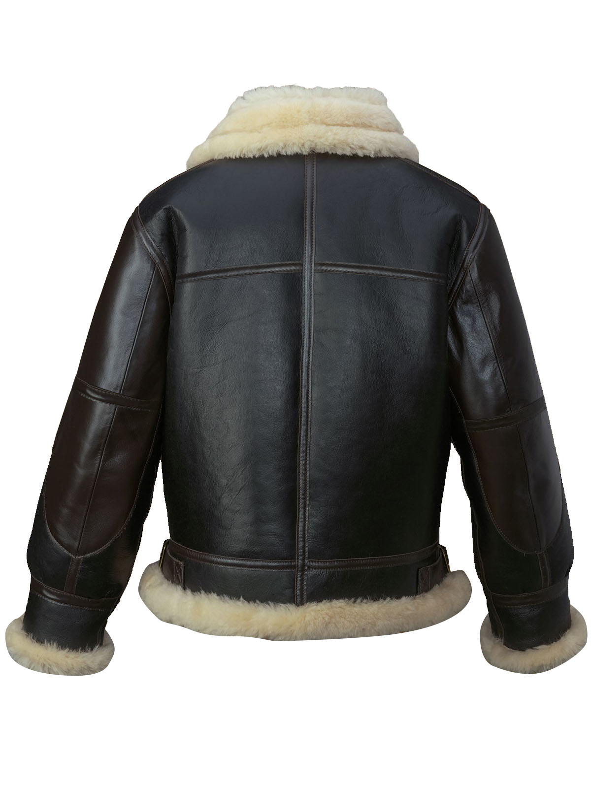 Men's black B3 flying shearling leather jacket