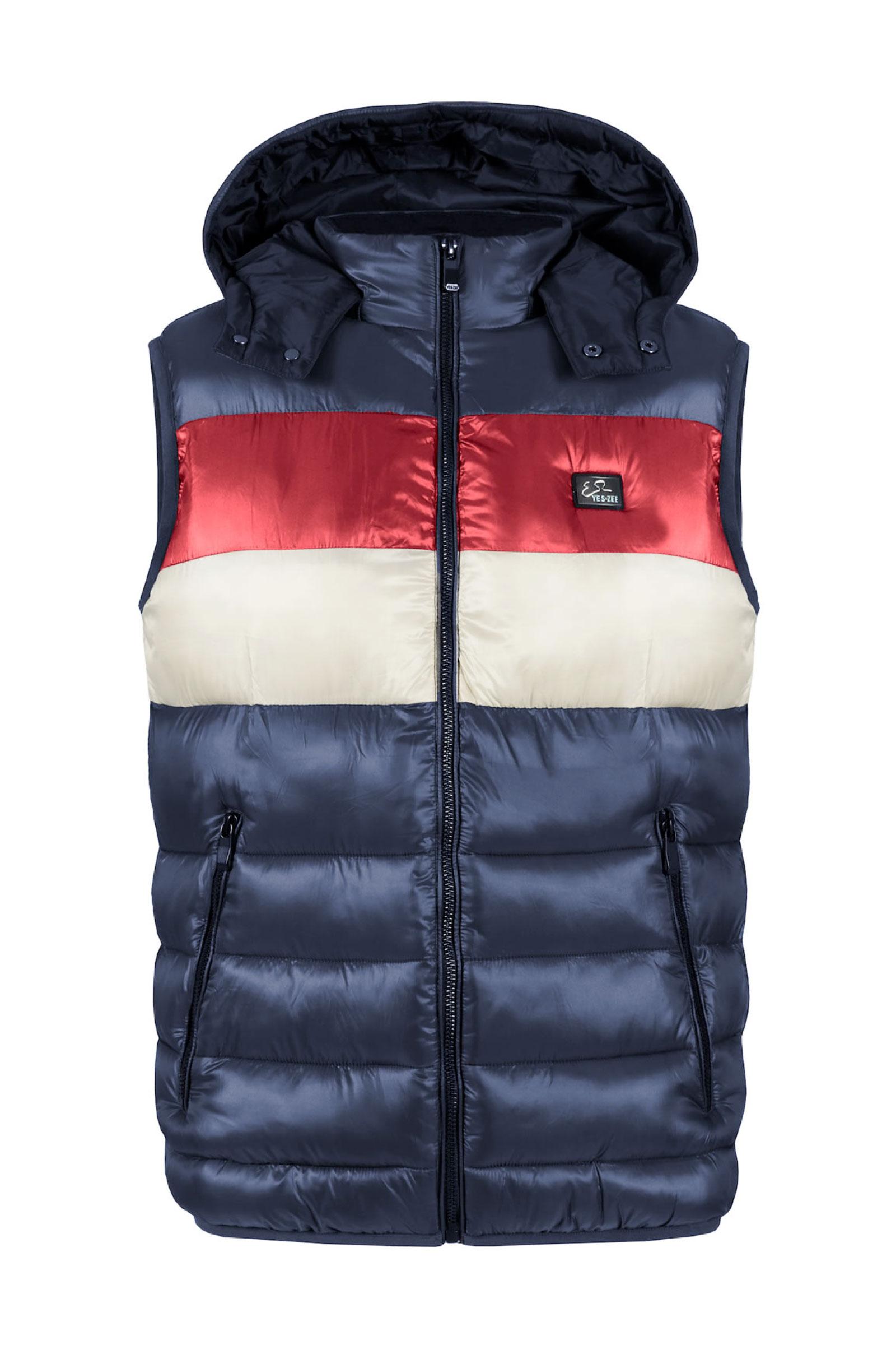 YES ZEE Men's sleeveless jacket YES.ZEE   Jacket   J907 Q7002704